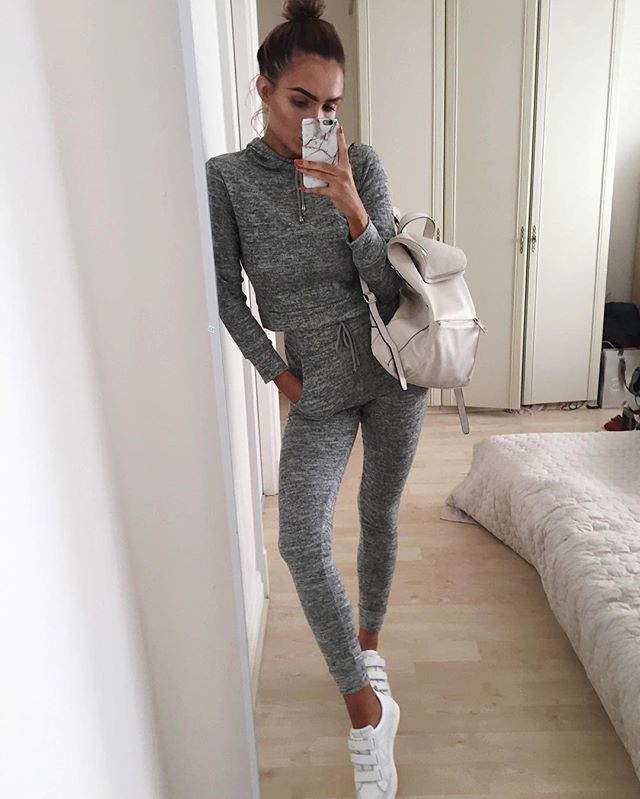 Comfy sundays in @missyempire - tracksuit link in bio  Shoes - @nubikkofficial