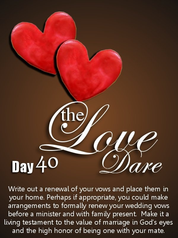 40 day love dare for dating