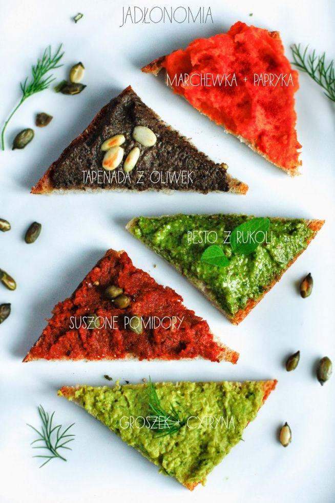 Zobacz zdjęcie Imprezowe przekąski - kolorowe pasty na kanapki w pełnej rozdzielczości