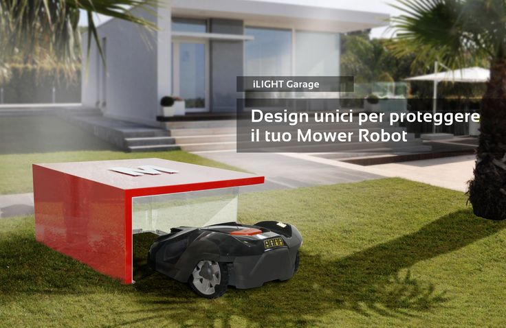 automower rasenm her roboter robotic lawn mower tondeuse robot garage design. Black Bedroom Furniture Sets. Home Design Ideas
