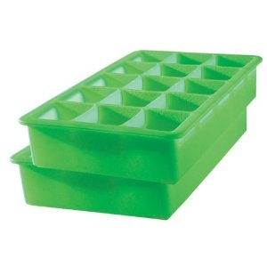 The best ice cube tray. It holds 1 oz., square ice cubes. Originally used to freeze home made baby food portions. Now used for a classic look in a rocks glass when serving drinks/entertaining.