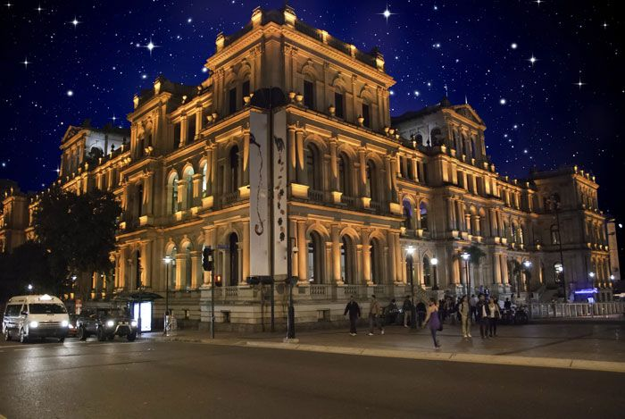 Starry Night Over Brisbane Central Square maloufdental.com.au