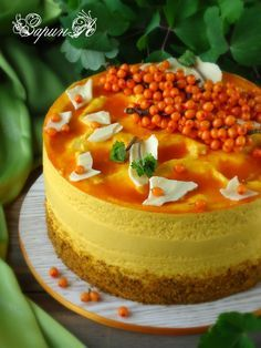Торт черемухово-облепиховый Осенний вальс
