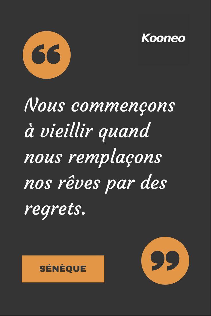 [CITATIONS] Nous commençons à vieillir quand nous remplaçons nos rêves par des regrets. SÉNÉQUE #Ecommerce #Motivation #Kooneo #Seneque : www.kooneo.com
