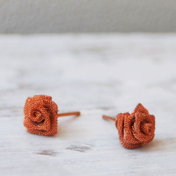 Copper Roses Earrings. The most perfect every day earrings