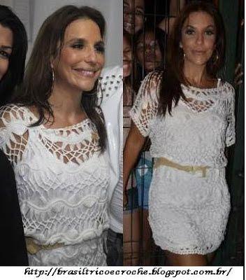 Brasil Tricô & Crochê - Handmade: Vestido de Grampo Ivete