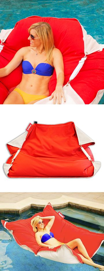 H2o Red // pool lounge that floats or can be used as a poolside chair ... so fun, summer here I come! #productdesign
