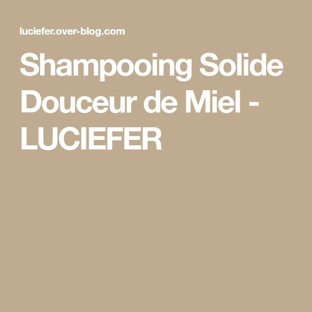 Shampooing Solide Douceur de Miel - LUCIEFER