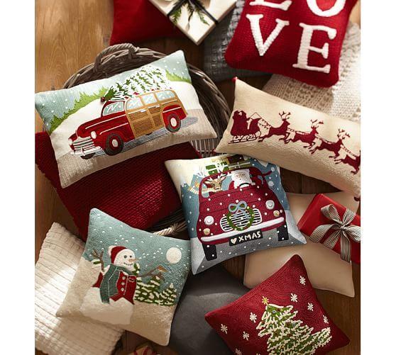 452 best Decorative Pillows images on Pinterest Decorative - decorative christmas pillows