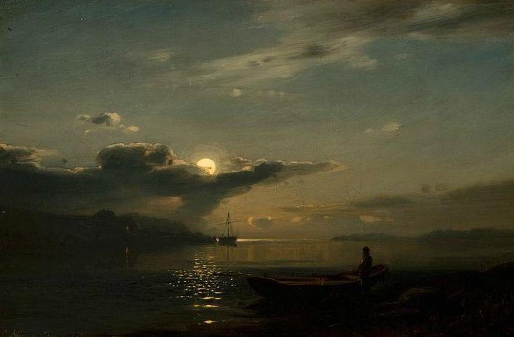 Moonlight over Bankefjord - Amaldus Clarin Niels