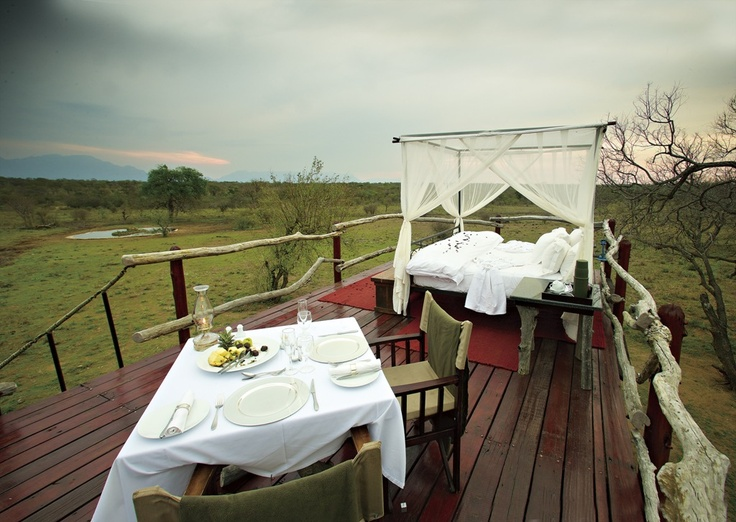 Enjoy an African lullaby on this romantic Sleep Out in the Bush of  in Kapama Karula Camp (Hoedspruit area). Can not think of a more exiting way of falling asleep in South Africa.