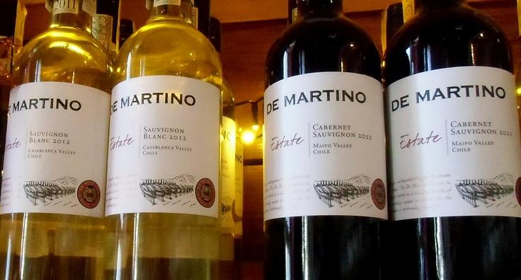 Chile w butelkach od De Martino
