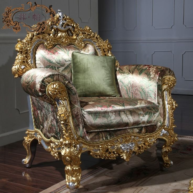 A Furniture Find: French Empire Furniture- Hand Carved Leaf Gilding Sofa Set