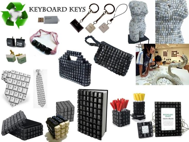 keyboard keys. I picked up four keyboards someone was throwing away, hope it's enough to try a few of these.