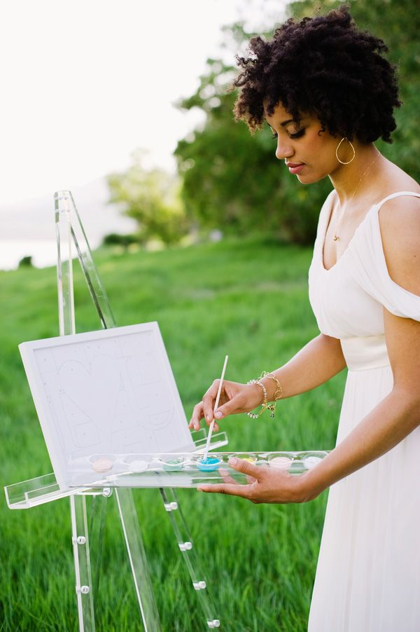 Painting in the park