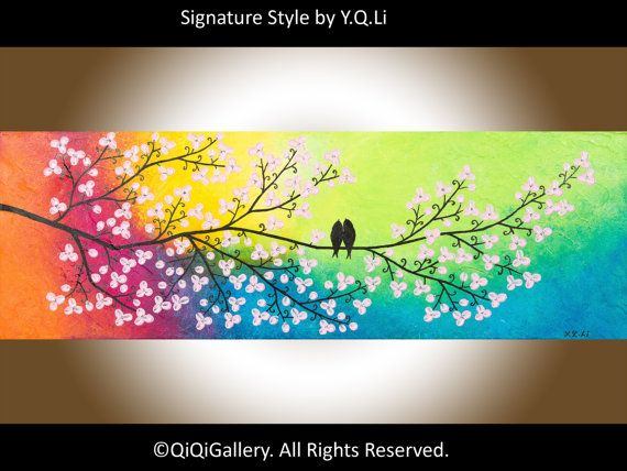 Romantic Painting Abstract Painting Landscape by QiQiGallery