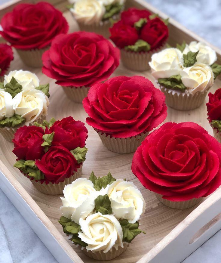 Hacer glaseado de crema de mantequilla roja – Comida decorativa – #Butter Cream #Deco …   – Cupcakes Rezepte