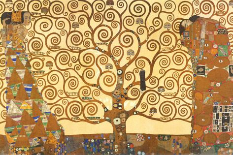 Gustav Klimt The Tree of Life: Part of the Stoclet Frieze. In-depth history and analysis, featuring Gustav Klimt art prints and posters.