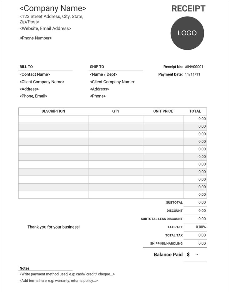 16 Free Receipt Templates Download For Microsoft Word Excel And Google Sheets Receipt Template Free Receipt Template Templates