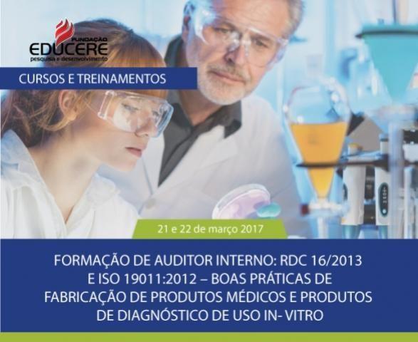 Formação de Auditor Interno, dias 21 e 22, em Campo Mourão