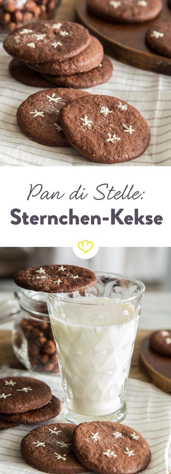 Wenn ein Zucker-Sternenregen auf deine Schokokese fällt, dann liegen die italienischen Süßigkeiten 'Pan die stelle' vor dir.