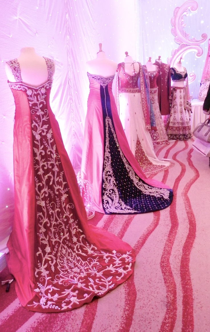Beautiful Lenghas Gowns And Anarkalis On Mannequins Pink
