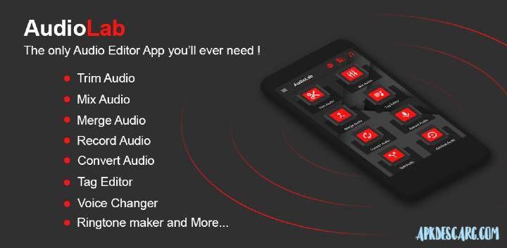 تطبيق Audiolab V1 1 2 لتعديل الصوت بإحترافية كامل للأندرويد مجانا Audio Download Music From Youtube Records