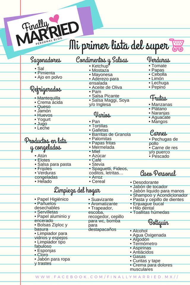 Lista de compras para recién casados