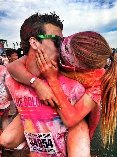 Only if I could get my boyfriend to go on a run with me;) Cute picture