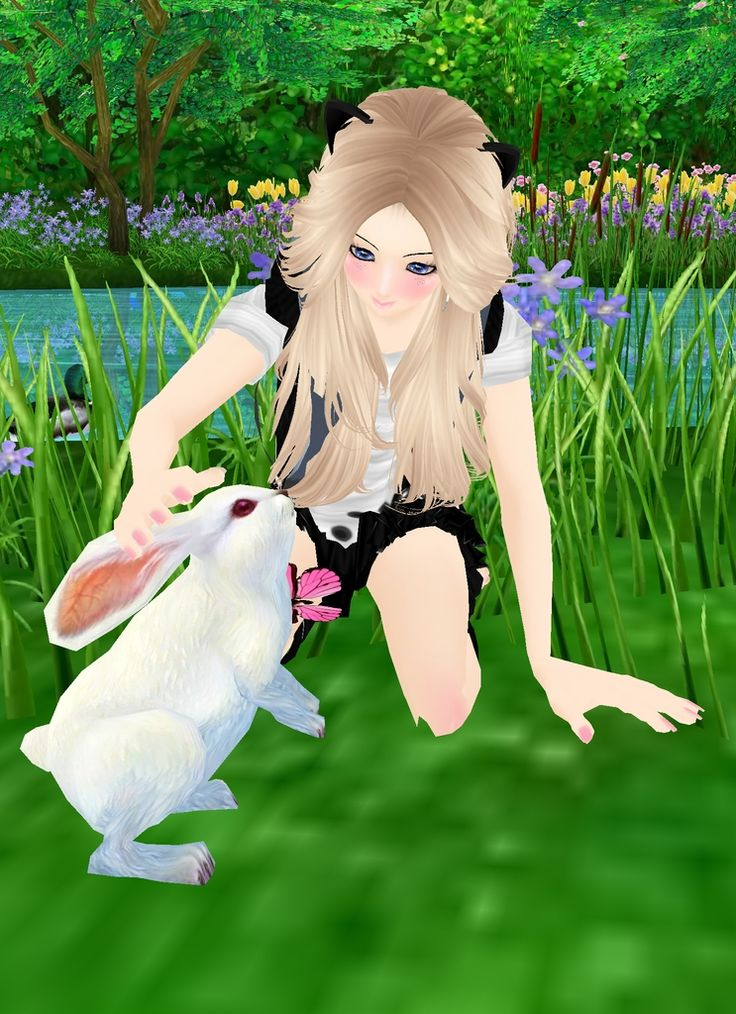 Captured Inside IMVU - Join the Fun! we can play with the rabbits