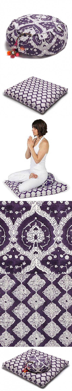 Chattra Plum Bagh Zafu & Plum Jali Zabuton Meditation / Yoga Set