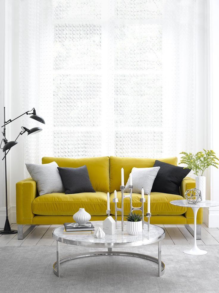 This Yellow Velvet Sofa Is Contemporary, Elegant And Sophisticated Design.  The Costellou0027s Simple Shape