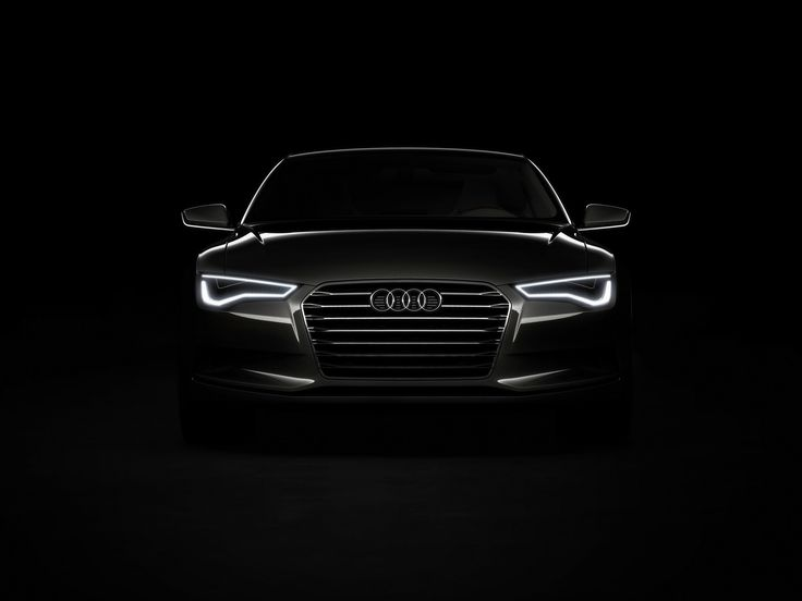 black | ... Audi Sportback Concept - Front Lights Black 1