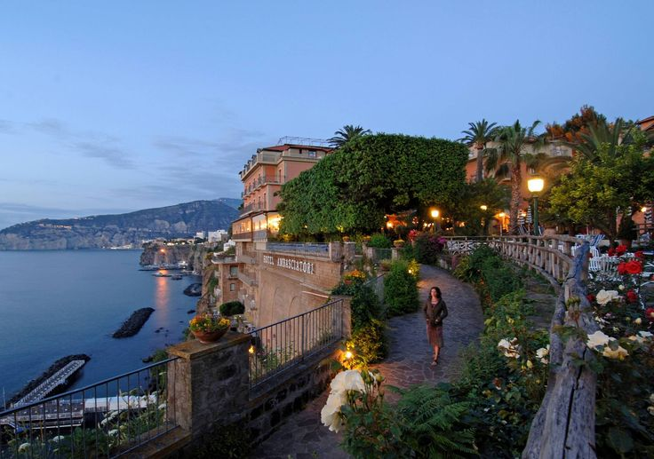 Grand Hotel Ambasciatori is a prestigious five star Hotel in Sorrento centre, on a cliff with a breathtaking view of the Gulf of Naples and Vesuvius.