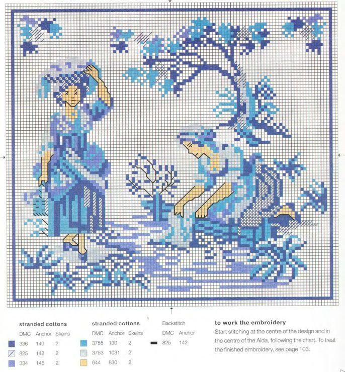 Gallery.ru / Фото #21 - Blue & White Cross Stitch-Helena Turvey - Orlanda
