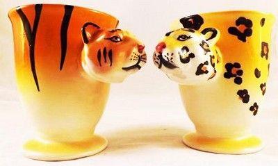 mug anse l opard et mug anse tigre en c ramique lot verres carafes chopes bouteilles. Black Bedroom Furniture Sets. Home Design Ideas
