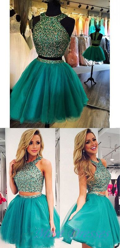 New Homecoming Dresses Hunter Green Homecoming Gowns Tulle Evening Gown For…