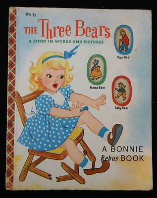 """Bonnie Rebus Book """"The Three Bears"""" 1953"""