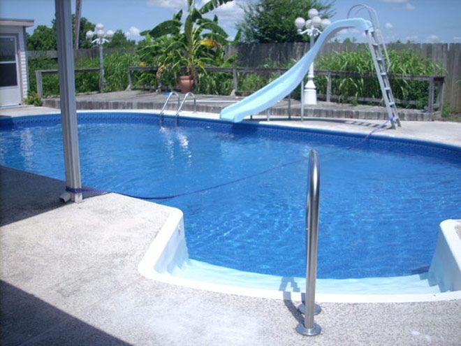 Inground swimming pools inground pool slides for Kenny pool design