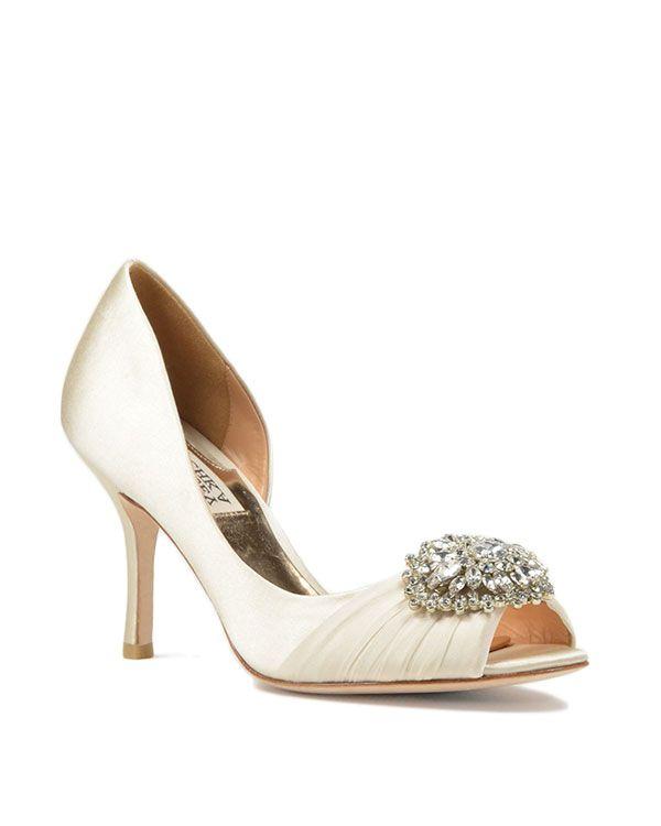 Perfect Pearson Satin Embellished Pump by Badgley Mischka Wedding WearWedding