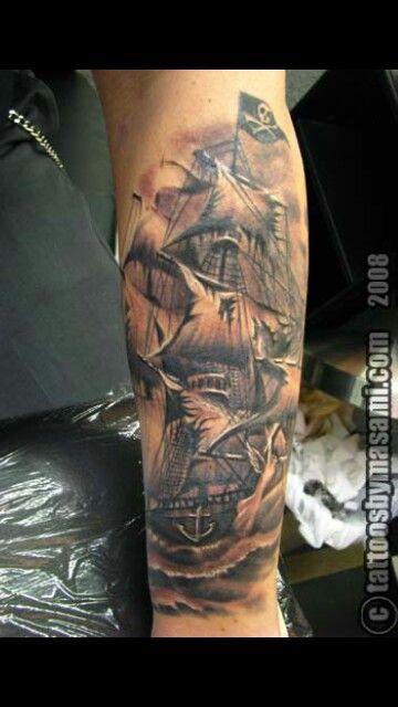 Nice pirate ship tat tattoos pinterest nice pirates for Pirate tattoo parlor sign