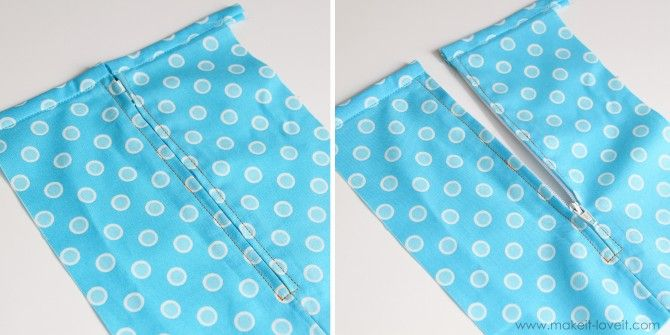 The best zipper tutorial out there- uses scotch tape to hold it in place rather than pinning. Via Make it Love it
