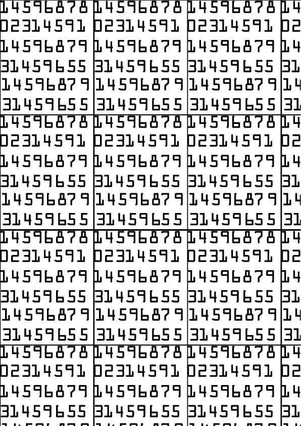 OCR-A (American type founders 1866) FUTURISTICO  Questo font, creata nel 1866 usa forme che ancora oggi lo rendono moderno.