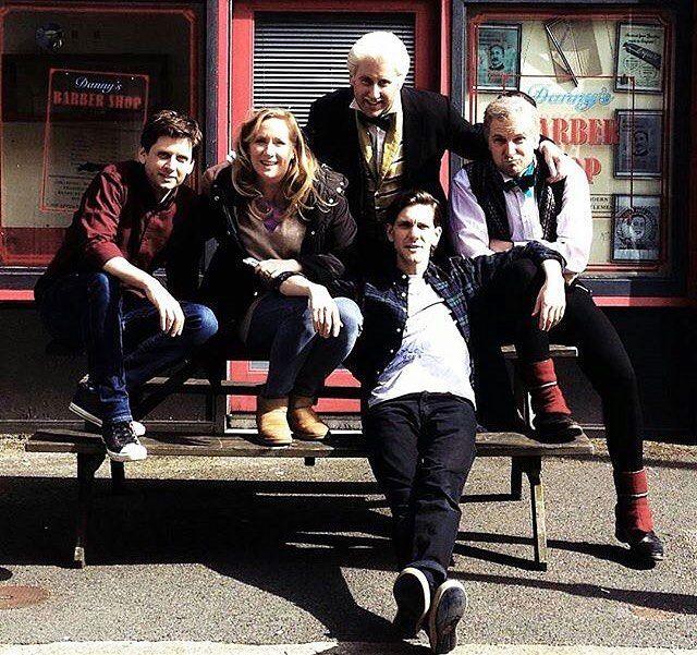 Larry, Martha, Jim, Ben, and Mat Yonderland / Horrible Histories cast