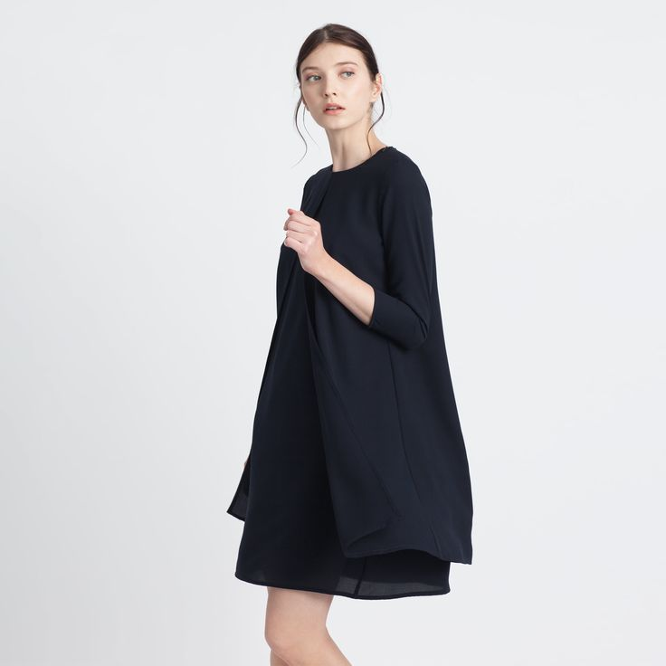 Rive Dress Black Elementy #dress #black #mini #round #elementy #minimal #classic #polishfashion