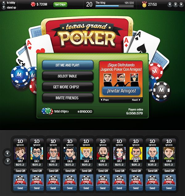 Texas grand poker by Gabriel Mourelle, via Behance
