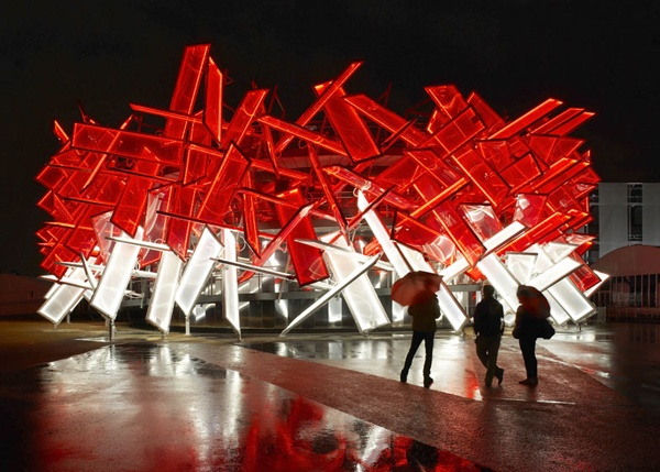 Coca-Cola Beatbox Pavilion for London's Olympic Park | Designed by Asif Khan & Pernilla Ohrstedt