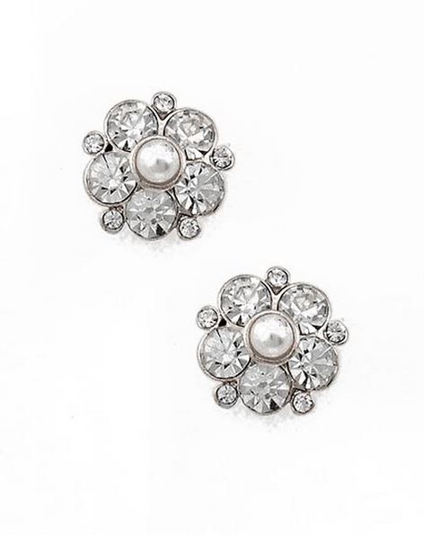 Daisy studs - rhodium  Visit blackvelvetcollection/facebook.com to view full spring collection