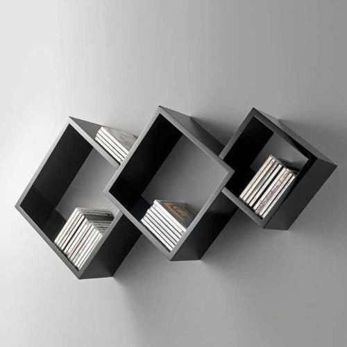 repisa o estanteria flotante en madera lacada ref: diamante