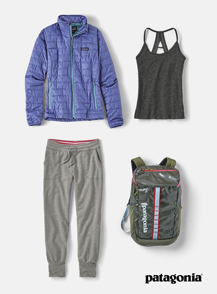 The Women's Yoga & Activewear collection is designed for you to stay active and healthy. The Nano Puff, windproof and water-resistant is ideal as outerwear. The Cutaway Racerback Tank Top provides great mobility for yoga poses. The Black Hole Backpack has just the right amount of space to haul your daily essentials, with the weather-resistant protection. And the Ahnya Pants are made with soft organic cotton and polyester fleece. Shop now.